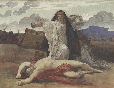 Pillow Duvet Antigone Gives Token Burial To The Body Of Her Brother