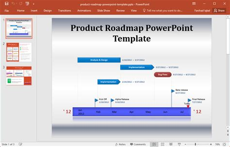 technology roadmap template free product roadmap