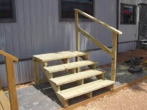 home steps mobile home steps treated wood columbus ebay classifieds