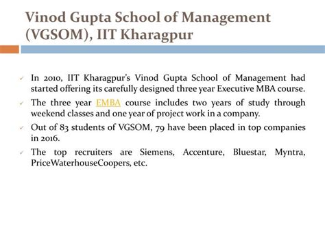 Iit Kharagpur Mba Ranking by Ppt Top Executive Mba Colleges In India Powerpoint