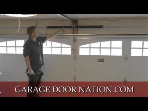 How To Balance A Garage Door How To Level A Garage Door To Make It Balance