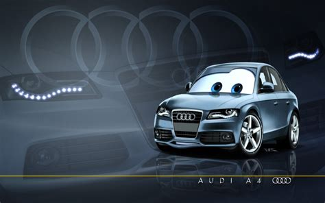 cartoon audi wallpapers cartoons gt wallpapers cars 1 and 2 pixarized