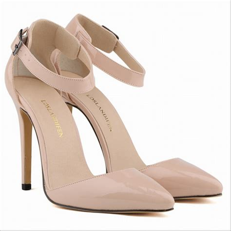 High Heels Suede Rnn Merah pumps pointed toe 11cm high heels faux suede ankle shoes black apricot