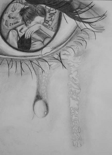 eyes sad draw drawing pinterest sadness eyes and
