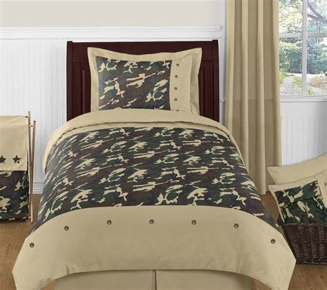 twin size camo comforter green camouflage comforter set 4 piece twin size by