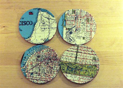 cool coasters cool map diy coasters allfreepapercrafts com
