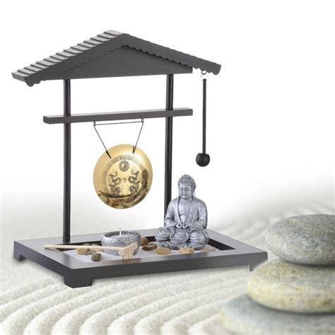 Zen Garten Deko Kaufen by Zen Garten Gong Miniatur Deko Mit Buddhafigur F 252 R Zu Hause