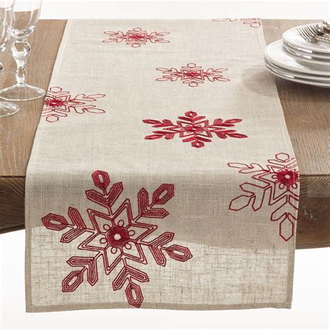 scandi christmas table runner features material 100 polyester nivalis collection