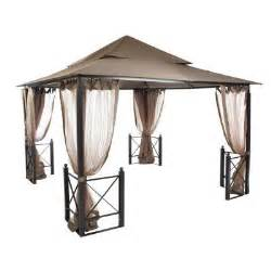 Home Depot Patio Gazebo Hton Bay 12 Ft X 12 Ft Harbor Gazebo Gfs01250a The Home Depot