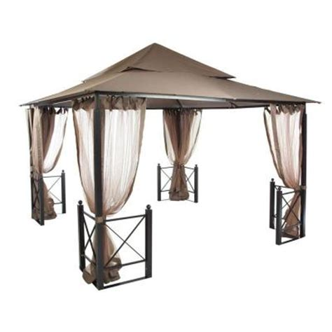 home depot gazebo hton bay 12 ft x 12 ft harbor gazebo gfs01250a the