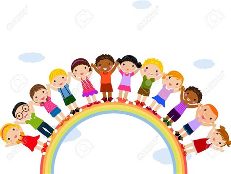 free childrens clipart in rainbow clipart