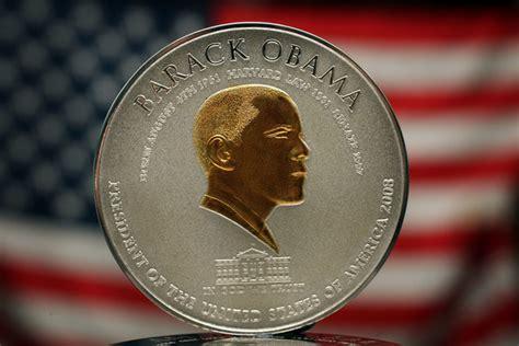Obama Presidential Caign | birmingham firm strikes president obama coin zimbio