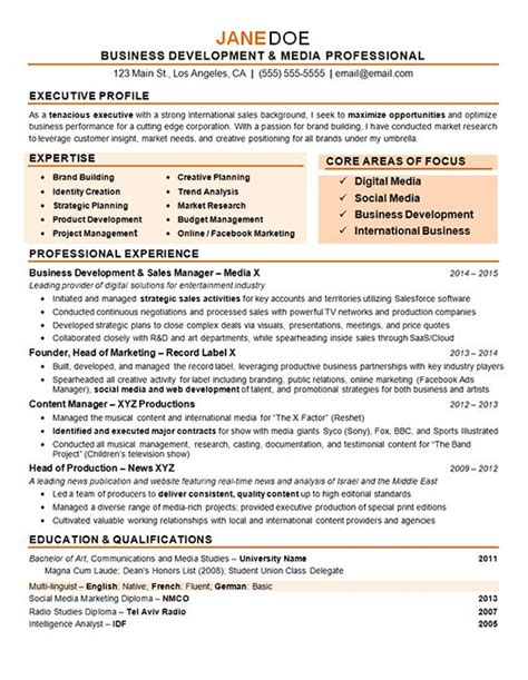 Advertising Creative Director Sle Resume by Digital Marketing Resume Exle Digital Media Marketing Resume And Marketing