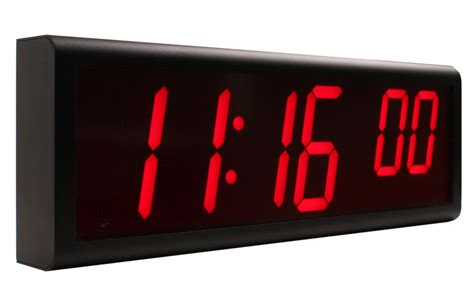 wall clock digital inova solutions network clock synchronized digital wall