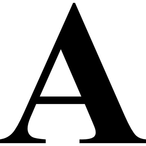 Letter Variants Letter A Text Variant Free Interface Icons