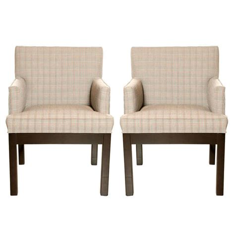 Custom Armchairs by Pair Of Custom Armchairs At 1stdibs