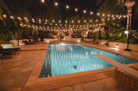 outdoor pool lighting market lights private residence in rancho santa fe