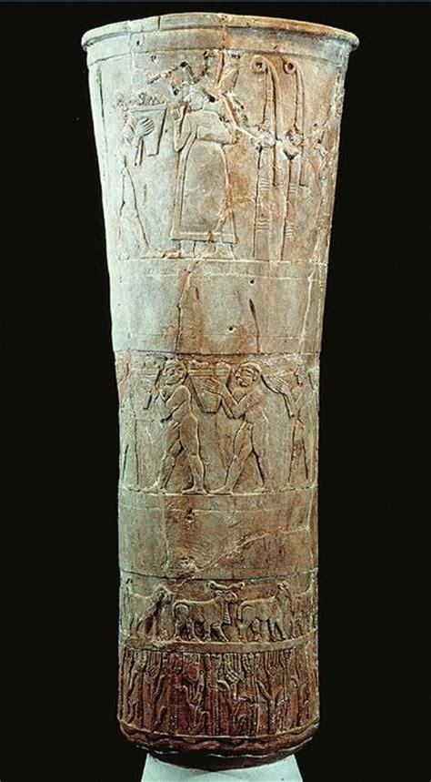 Warka Vase History by Warka Vase From Uruk Iraq 3200 3000 Bce History