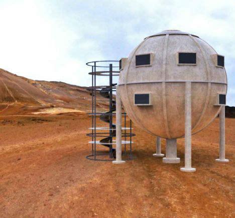 steampunk sphere home   prefab disaster shelter