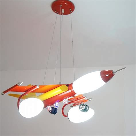 Kid S Bedroom Red Blue Airplane Led Pendant L Babys Airplane Ceiling Light