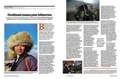 Majalah National Geographic Indonesia Oktober 2011 national geographic traveler indonesia 2011 destinasi mana pun istimewa agustinus wibowo