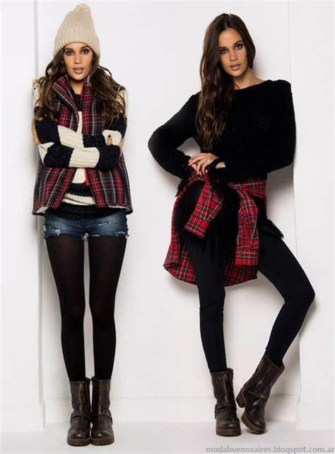la ropa de moda en argentina en invierno otoo invierno moda oto 209 o invierno 2014 cuadros escoceses estampas de