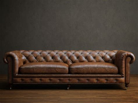 seater leather chesterfield sofa  model dsmax files