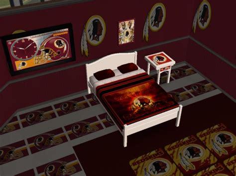 redskins bedroom mod the sims washington redskins bedroom