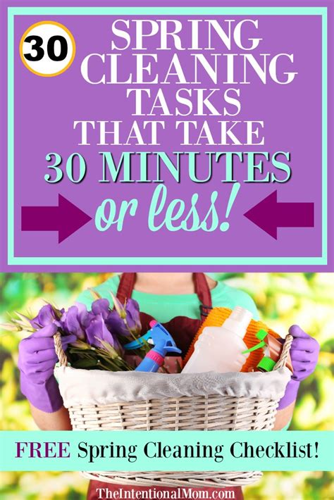 spring cleanup 30 spring cleaning tasks that take 30 minutes or less