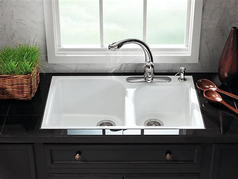 Tile In Kitchen Sink K 5931 4 Executive Chef Tile In Kitchen Sink W Four Faucet Holes Kohler