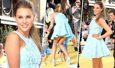 Danielle Lloyd Exposes Her Pert Derri Re In Daringly Short Dress At Minions Premiere Celebrity