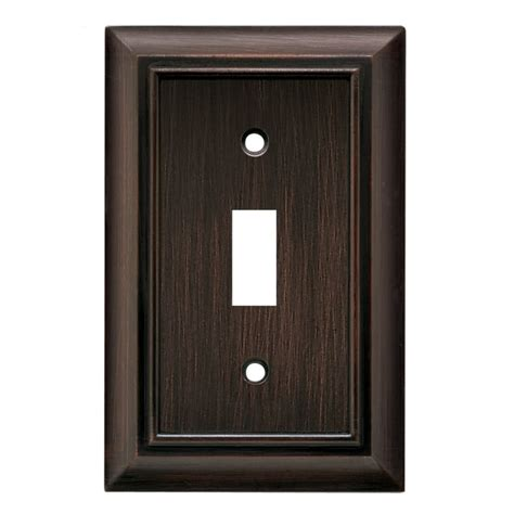 Us Home Decor Single Brushed Nickel Switch Plates The Decoras