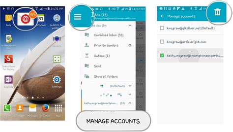 delete email account android how to add email accounts to samsung email android central