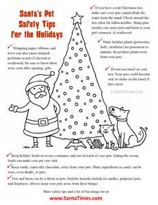 coloring tips santa s pet safety coloring page here are some