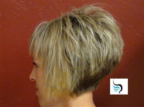 trimming a stacked bob stacked inverted bob back view hairstyle picture magz