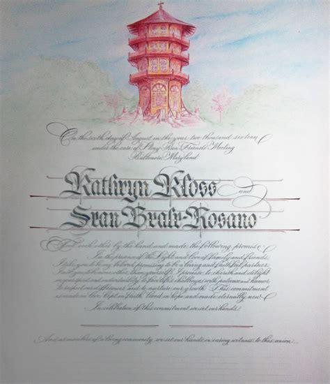 Cincinnati Marriage License Records Cincinnati Calligrapher Mcmannon Quot The Write Way