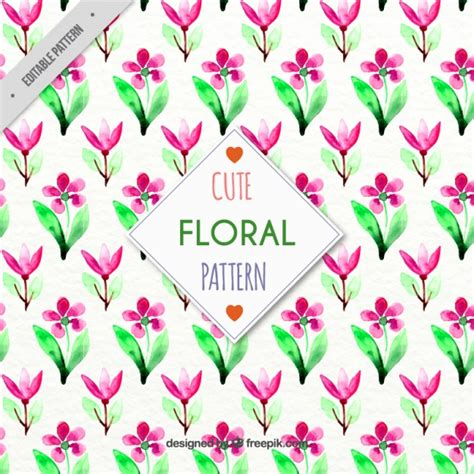 watercolor floral pattern vector free download cute watercolor floral pattern vector free download