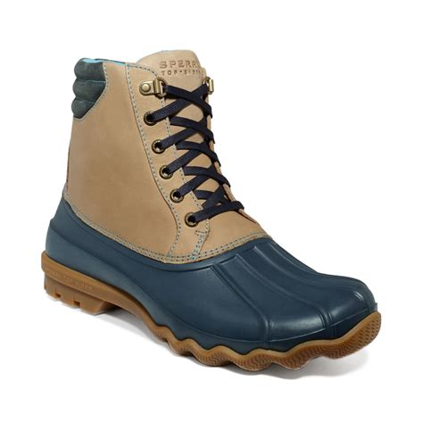 duck boots for sperry top sider avenue duck boots in blue for navy