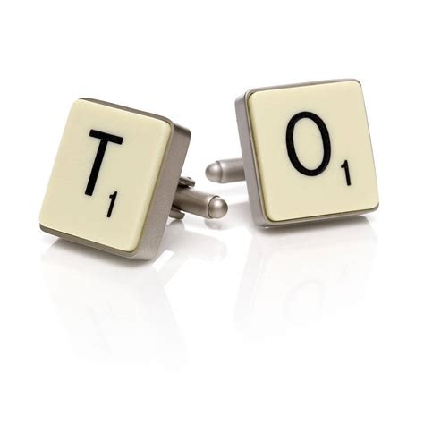 official scrabble cufflinks by copperdot