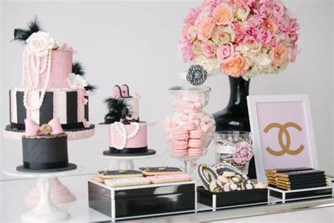 Chanel Inspired Home Decor Coco Chanel Fashionista Dessert Table Best Friends For Frosting