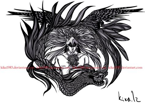 quetzalcoatl tattoo design aztec and quetzalcoatl commission by kika1983 on