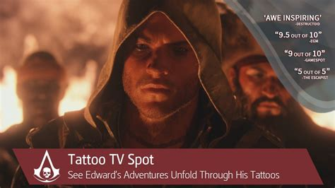 edward kenway tattoos tv spot assassin s creed 4 black flag