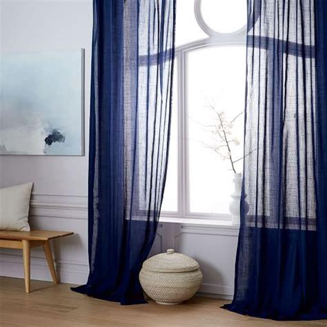 west elm sheer curtains sheer crosshatch curtains set of 2 nightshade west elm