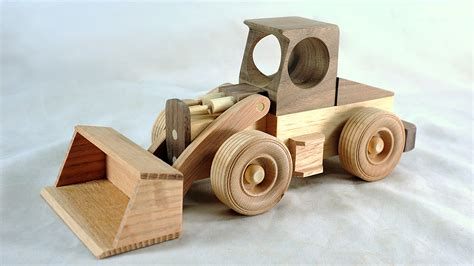 Handmade Wooden Toys Plans - make a front loader free plans