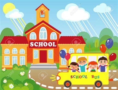 imagenes animadas escuela 46372908 ilustraci n del edificio de la escuela de dibujos
