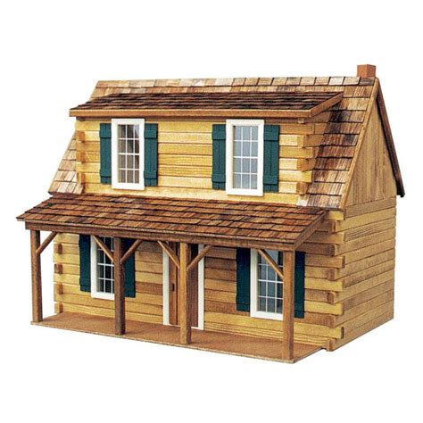 real toys adirondack cabin dollhouse kit 1 inch