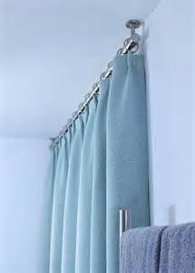 duschvorhang decke bathroom update ceiling mounted shower curtain rod