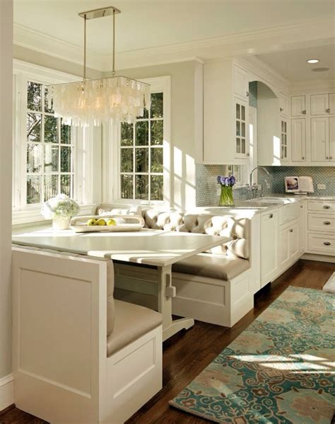 built in breakfast nook breakfast nook built off bench area dream kitchen