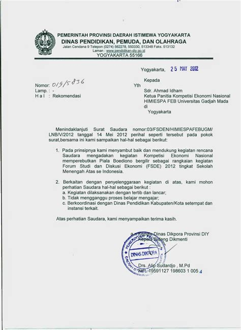 Surat Undangan Dinas by Pengertian Contoh Surat Dinas Best Office