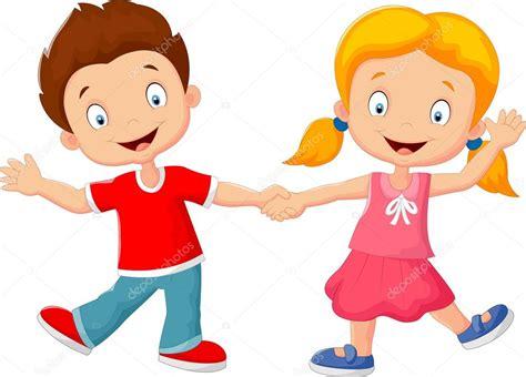 imagenes de niños alegres animados dibujos animados de ni 241 os peque 241 os la mano archivo